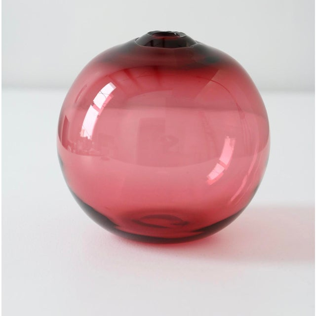 "SkLO Float Glass Vessel 16"" - Red For Sale - Image 10 of 10"