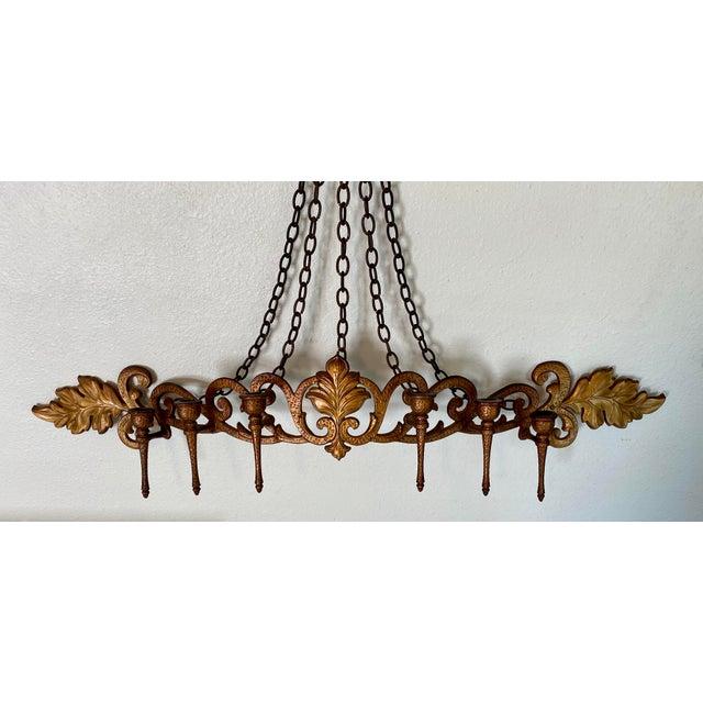 1970s 1970s Goldtone Hanging Candelabra For Sale - Image 5 of 9