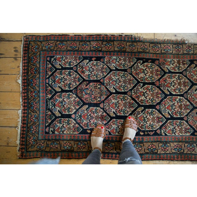 """Boho Chic Antique Fragment Northwest Persian Rug - 3'2"""" X 5' For Sale - Image 3 of 12"""