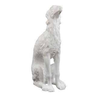 20th Century Porcelain Sculpture of a Russian Wolfhound For Sale