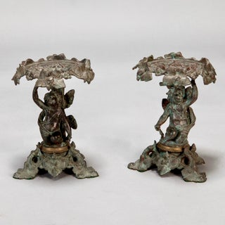 19th C. Tall Bronze French Tazzas - A Pair Preview