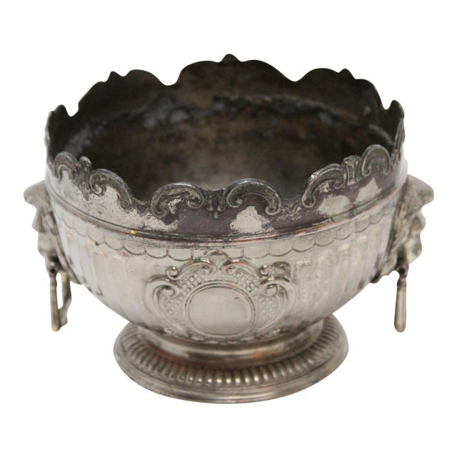 1940's Corbell & Co. Silver-Plate Monteith Bowl For Sale