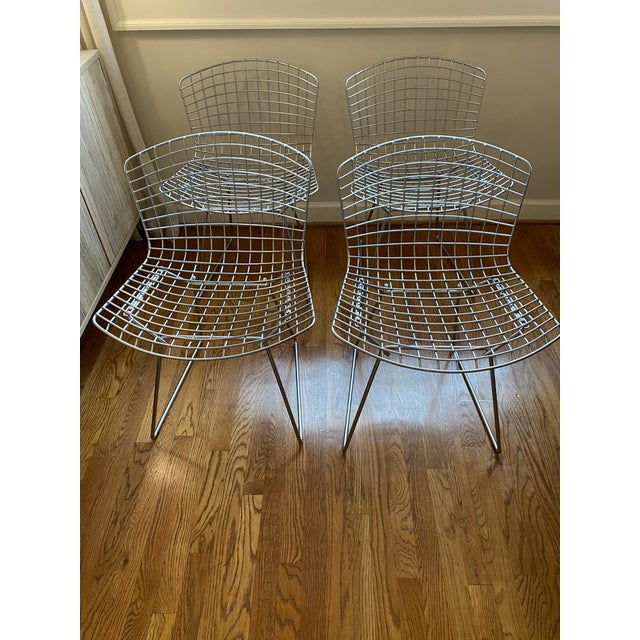 1950s Knoll Bertoia Chairs - Set of 4 For Sale - Image 5 of 5