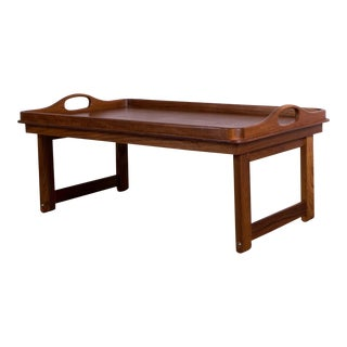 1960s Scandinavian Modern Goodwood Teak Tray With Handles For Sale