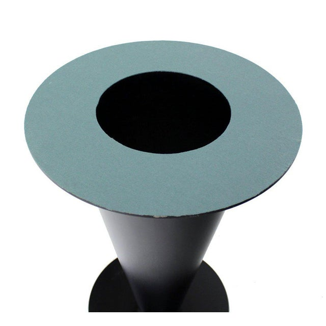 Apollo Woodworking Black Granite Top Heavy Metal Cone Base Cafe Gueridon Table For Sale In New York - Image 6 of 7