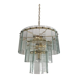 Vintage Glass Chandelier For Sale