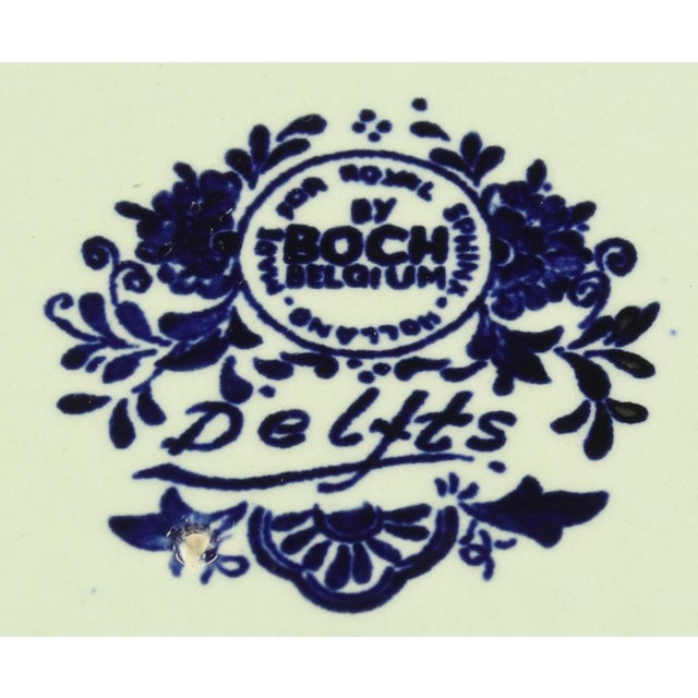 Plate, Boch Royal Sphinx Blue Delft Carriage Large For Sale - Image 4 of 5