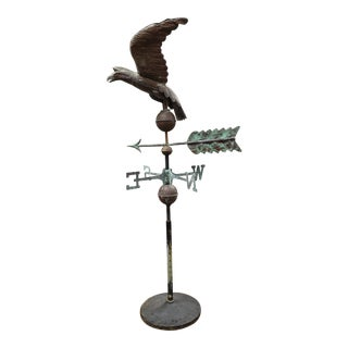 Vintage Mid Century American Eagle Weather-Vane With Stand For Sale