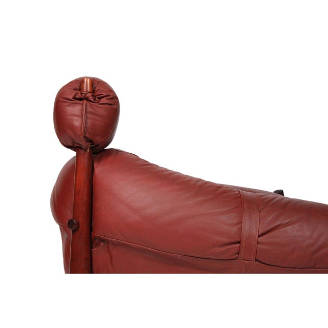 Brown Brazilian Leather Lounge Chair by Percival Lafer For Sale - Image 8 of 13