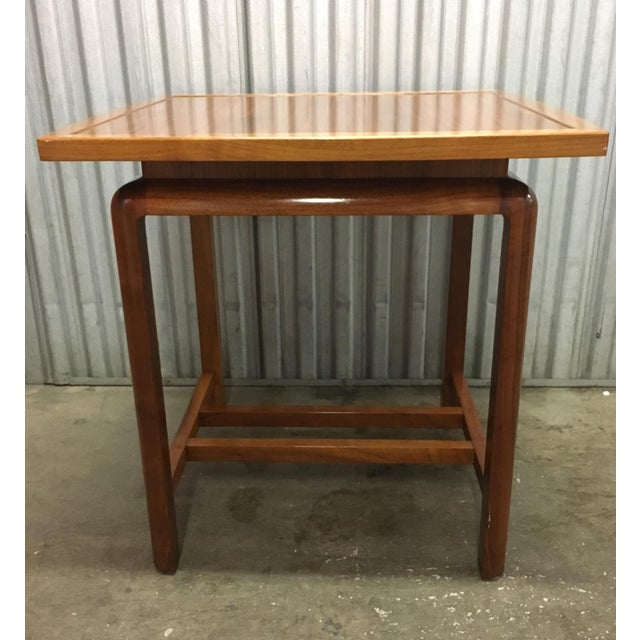 Mid 20th Century Risom Style Floating Top Side Table For Sale - Image 5 of 10