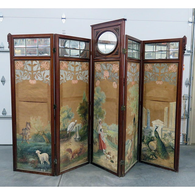 Aesthetic Victorian 4 Panel Screen For Sale - Image 13 of 13