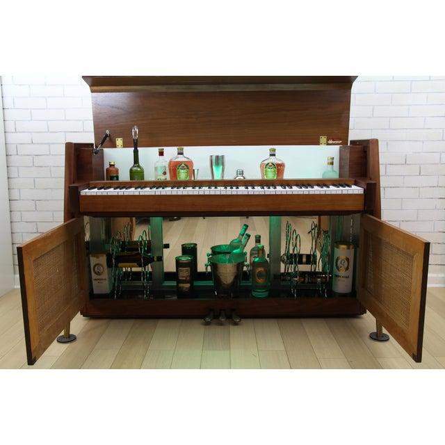 Mid-Century Modern Hidden Piano Bar With Liquor Wine Storage - Baldwin Acrosonic For Sale - Image 4 of 12