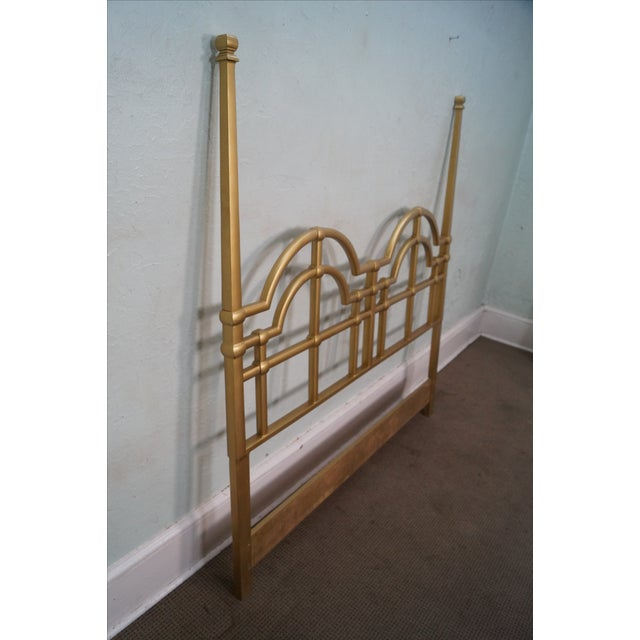 Mid-Century Gold Painted Metal Queen Headboard - Image 3 of 10