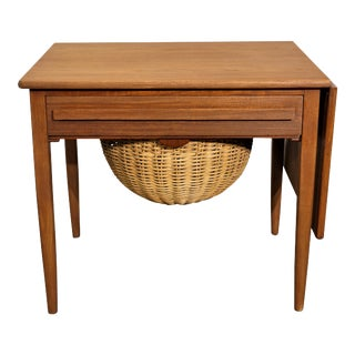 Original Danish Mid Century Johannes Andersen Sewing Table - Cfc Silkeborg For Sale