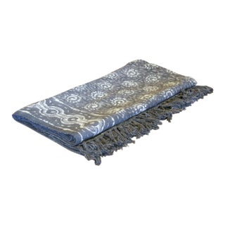 Sun Taupe Batik Throw For Sale