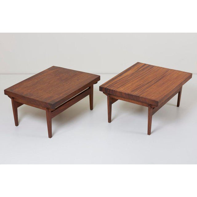 """Pair of studio craft end tables, Guatemala, 1960s. Signed with """"Disenos, Guatemala C.A.""""."""