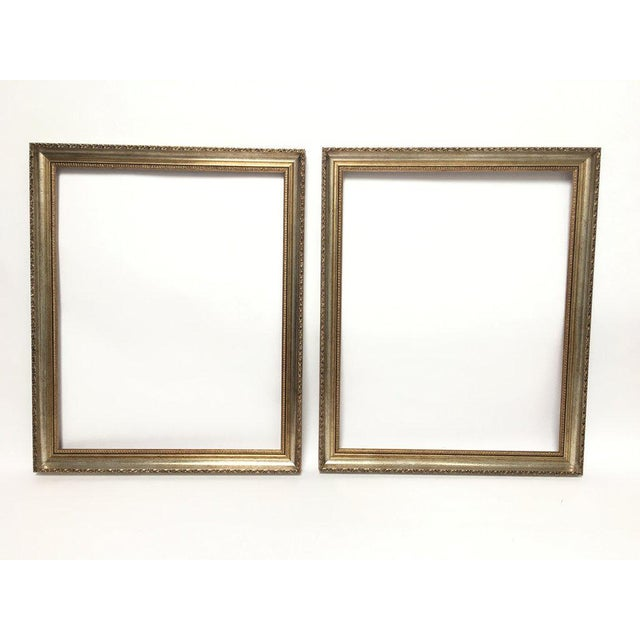 Large 34 X 28 Italian Gold and Silver Giltwood Ornate Wood Frames - a Pair For Sale - Image 13 of 13