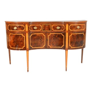 Early 19th Century American Federal Mahogany with Tiger Maple Inlay Sideboard For Sale