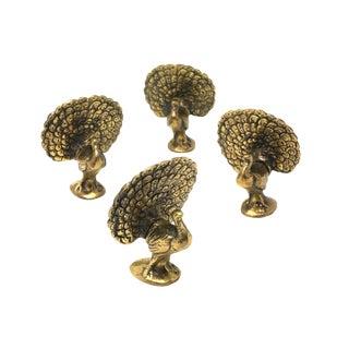 Vintage Brass Peacock Figure For Sale