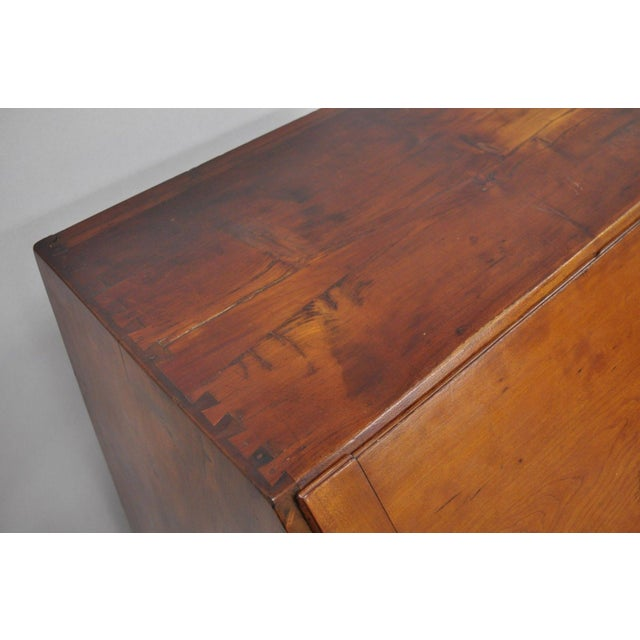 19th Century Chippendale Mahogany Slant Top Carved Ball & Claw Secretary Desk For Sale - Image 11 of 13