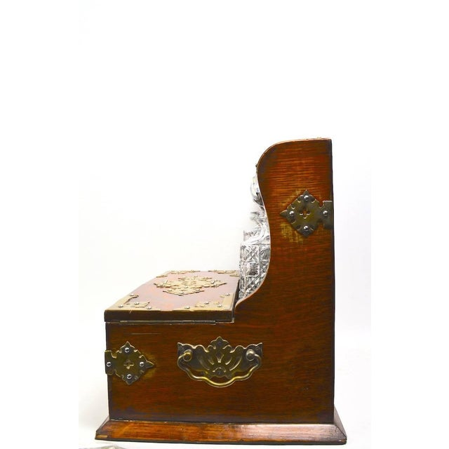 Brown Mid 19th Century English Tantalus by Branah London - 4 Pieces For Sale - Image 8 of 12