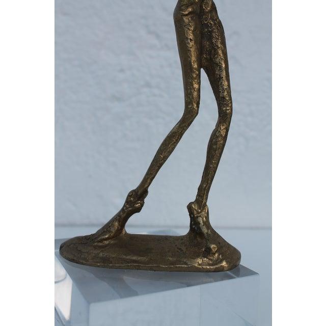 Brutalist Giacometti Style Decorative Brass Sculpture . For Sale In Miami - Image 6 of 7