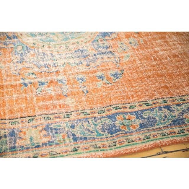 """Orange Vintage Distressed Oushak Carpet - 6'8"""" X 9'6"""" For Sale - Image 8 of 9"""