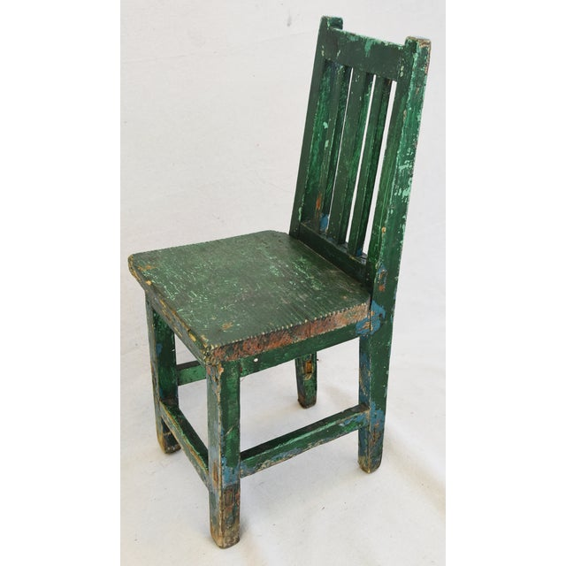 Early 1900s Primitive Country Child's Chair - Image 8 of 9