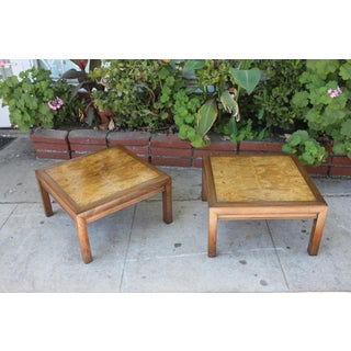 1960s Mid-Century Modern Henredon Burlwood Low Side Tables - a Pair Preview