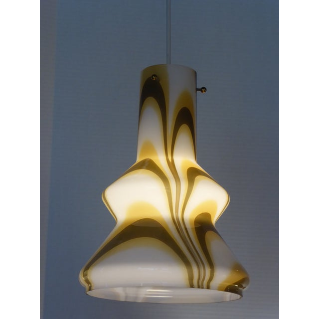 1960s Modern Swirl Blown Glass Pendant For Sale In Miami - Image 6 of 11