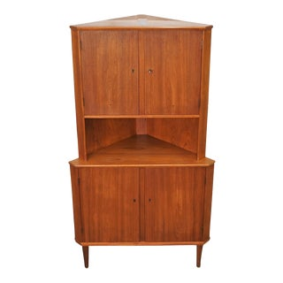 "Mid-Century Modern Corner Cabinet - ""Jan"" For Sale"