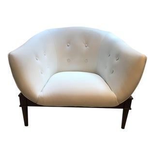 Global Views Mimi Modern White Leather Chair