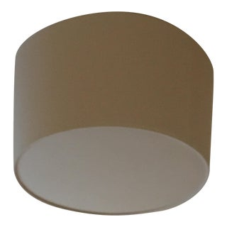 Custom Contemporary Linen Drum Shade Ceiling Fixture For Sale