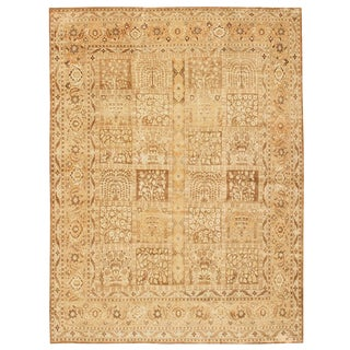 Antique Tabriz Persian Rug by Haji Jalili - 9′6″ × 12′1″ For Sale