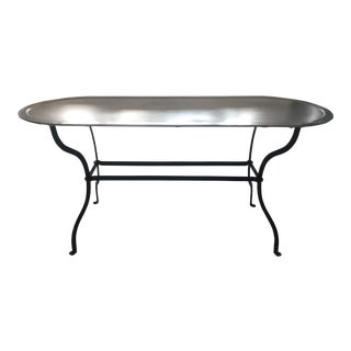 Zinc and Wrought Iron Coffee Table