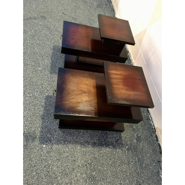 Unlike, almost any other modern or contemporary furnishings. These brutalist side tables, made by Lane Furniture, in Alta...