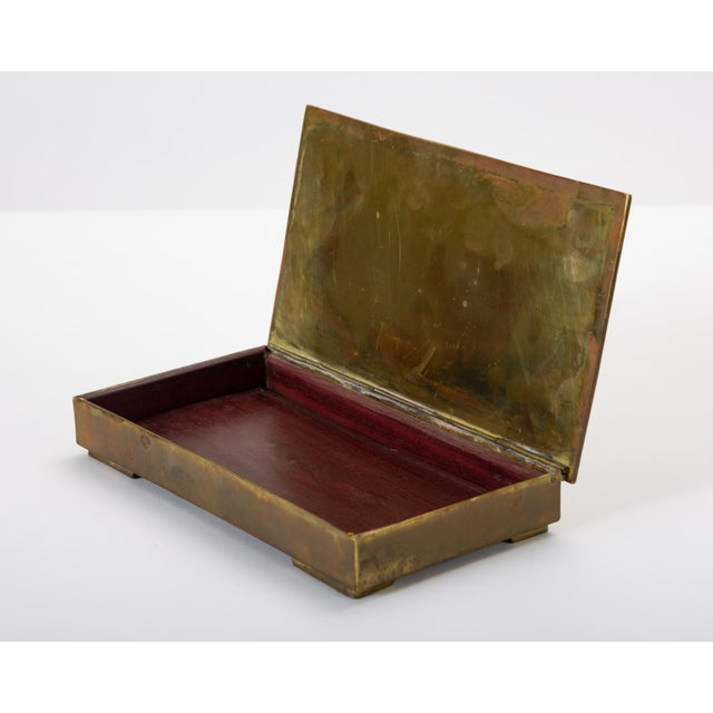 Mexican Brass Box With Resin Inlay Fish For Sale - Image 9 of 12