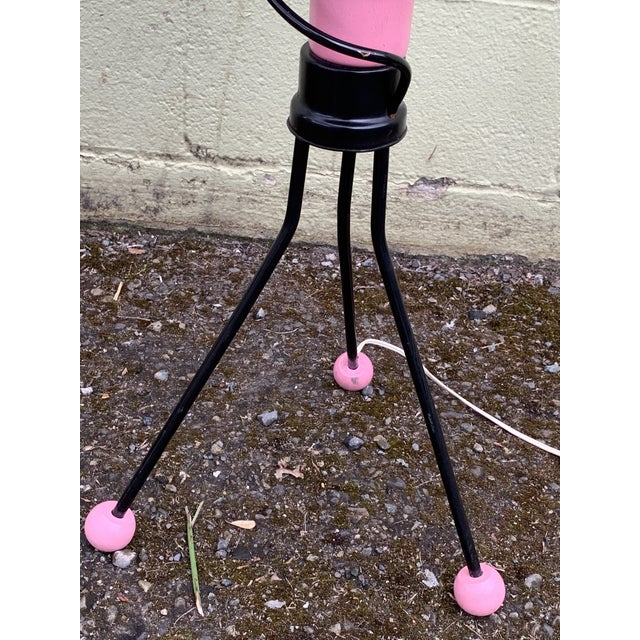 Memphis Space Age Memphis Style White Blue and Pink Lamp by Richard Gos For Sale - Image 3 of 4
