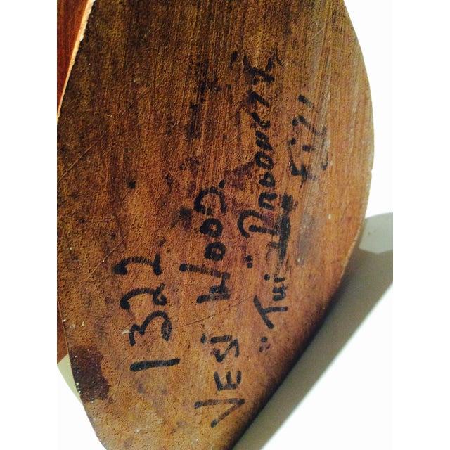 Brown Vintage Fiji Vesi Wood Sculpted Bust For Sale - Image 8 of 9