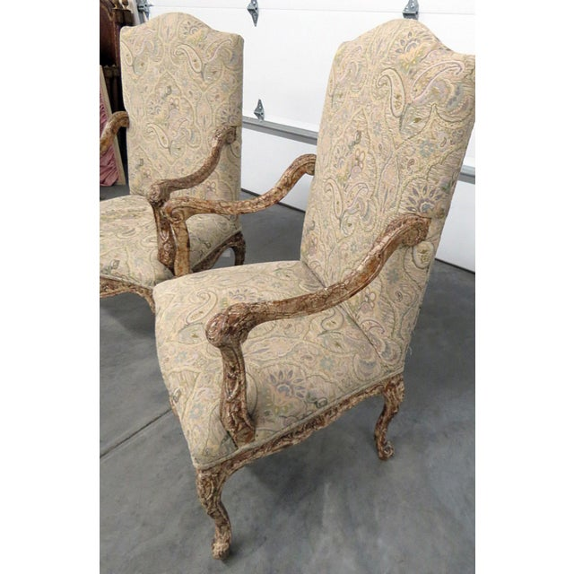 Louis XV Style Tapestry Armchairs - a Pair For Sale In Philadelphia - Image 6 of 12