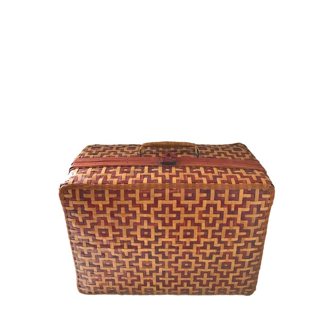 Geometric Weave Basket Trunk - Image 3 of 8