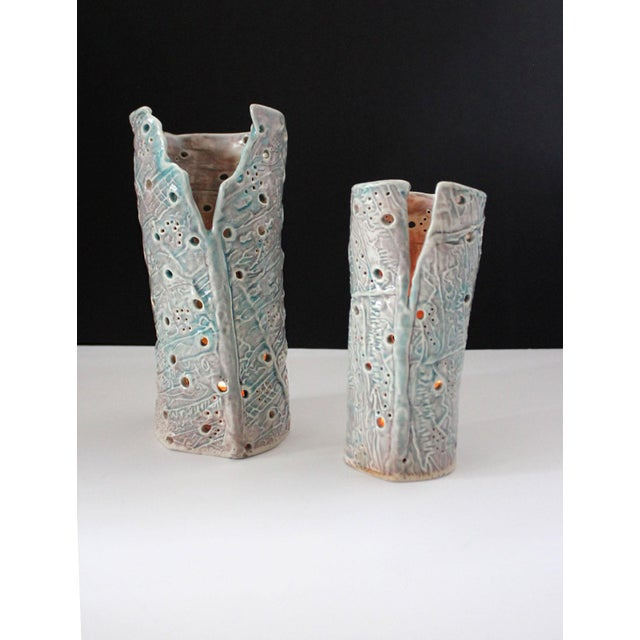 2010s Abstract Ceramic Slab Hurricanes - a Pair For Sale - Image 5 of 6