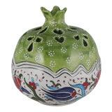Image of Handmade Turkish Ceramic Decorative Pomegranate Bowl, Hand Painted Boho Style Home Decor For Sale