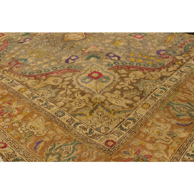 """""""A mesmerizing addition to any décor, this brand-new hand knotted vintage distressed wool rug featuring vibrant colors and..."""