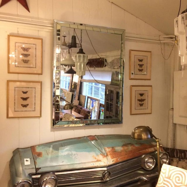 Mid Century Modern Rectangular Mirror For Sale - Image 4 of 5