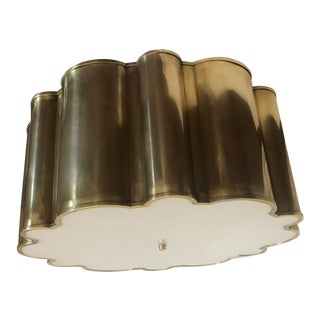 Alexa Hampton Markos Natural Brass Flush Mount For Sale