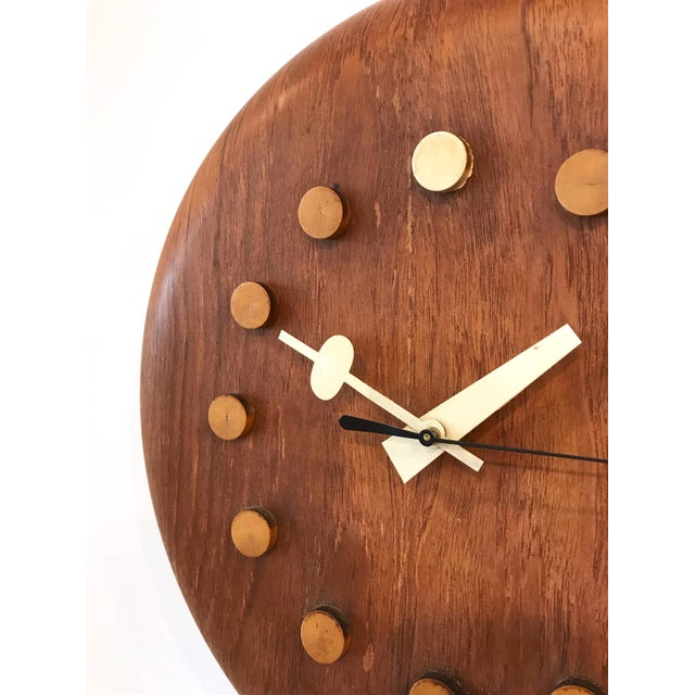 Mid-Century Modern Vintage George Nelson / Fritz Hansen Wall Clock 1950's For Sale - Image 3 of 11
