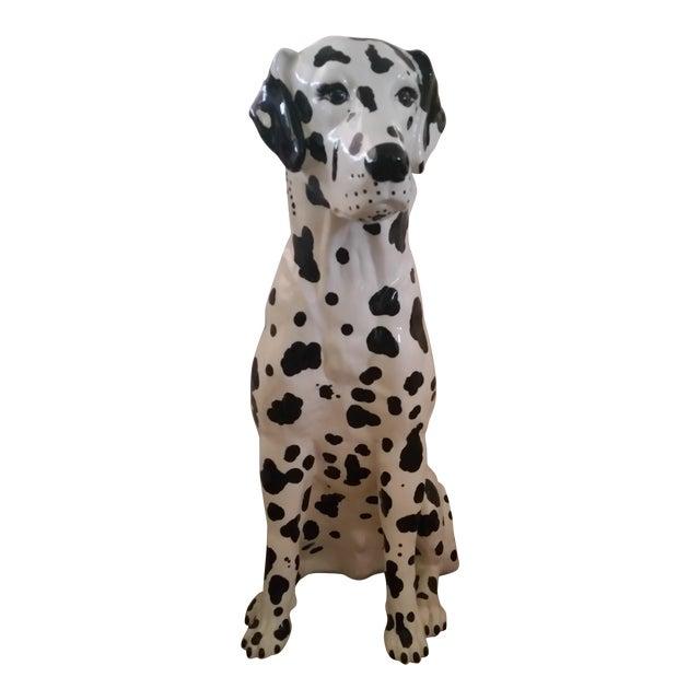 Vintage Dalmatian Dog Full Size Porcelain Statue - Image 1 of 7