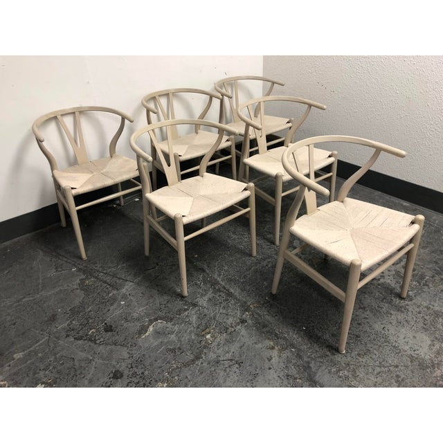 Set of Six Mid-Century Hans Wegner Wishbone Chairs For Sale In San Francisco - Image 6 of 12