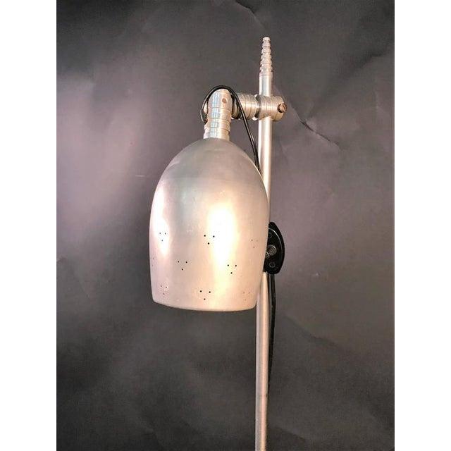 Art Deco Aluminium Floor Lamp For Sale - Image 4 of 6